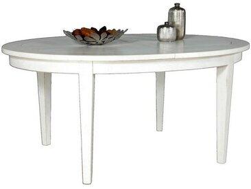 Table ovale chêne massif + allonges