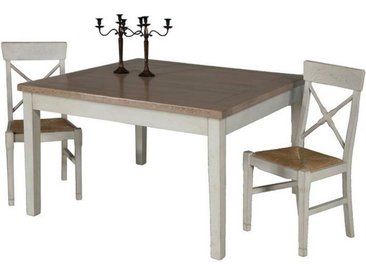 Table repas carrée chêne massif 130 cm Loire