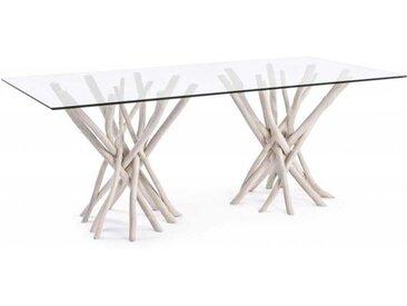 TABLE AC-VERRE SAHEL RECTANGULAIRE 200 x 100 cm