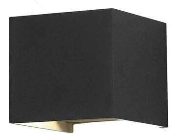 Applique LED Murale 6W Noire Étanche IP54 - Blanc Naturel 4000K