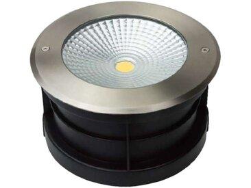 Spot LED Extérieur à Enterrer ou Encastrer 24W (éclairage 200W) IP67 - Lumière Bleu