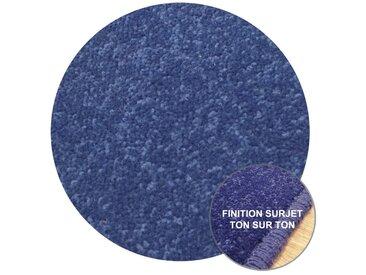Tapis Rond sur-Mesure Bleu York Wilton