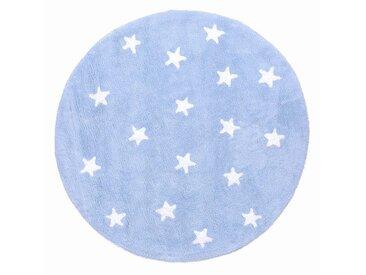 Tapis Enfant Rond Bleu Ciel Cielo