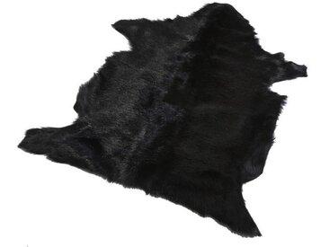 Tapis en peau de Chèvre Djaly Noir