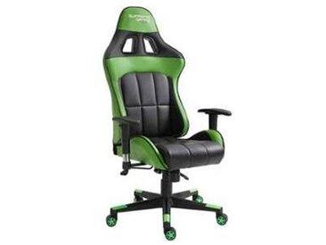 idimex Chaise de bureau gaming CREW, noir/vert