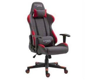 idimex Chaise de bureau gaming SWIFT, gris et rouge