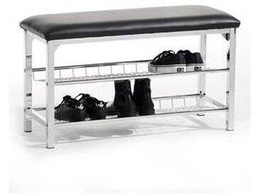 idimex Banc à chaussures INA, noir