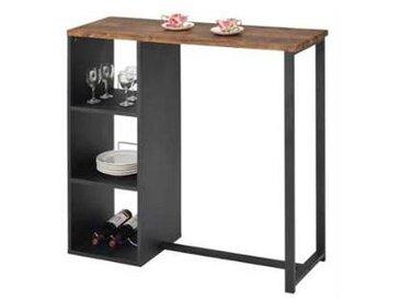 idimex Table haute de bar PIAVA, décor chêne sauvage