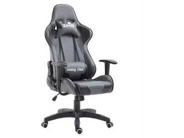 idimex Chaise de bureau GAMING, gris et noir