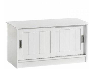IDIMEX Banc de rangement HEIN, laqué blanc