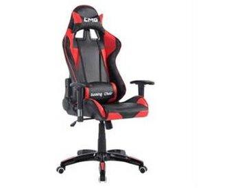 idimex Chaise de bureau GAMING, noir et rouge