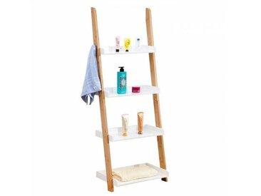 IDIMEX Etagère échelle de salle de bain BUFFALO, en bambou