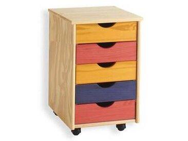 idimex Caisson de bureau à roulettes LAGOS, multicolore