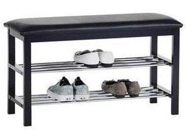 idimex Banc à chaussures SANA, 2 étagères, noir
