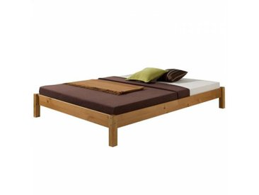 IDIMEX Lit futon TAIFUN, en pin massif, 140 x 200 cm, lasuré miel