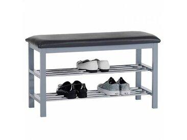 IDIMEX Banc à chaussures SANA, 2 étagères, gris