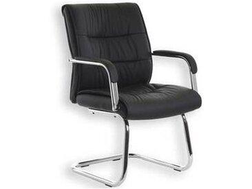 idimex Chaise visiteur CEDRIC noir