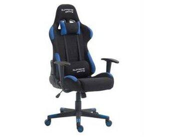 idimex Chaise de bureau gaming SWIFT, noir et bleu