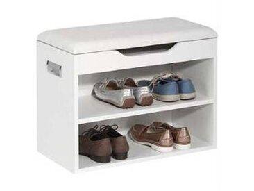 idimex Banc à chaussures ZAPATO, décor blanc mat