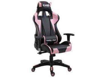 idimex Chaise de bureau GAMING, noir et rose