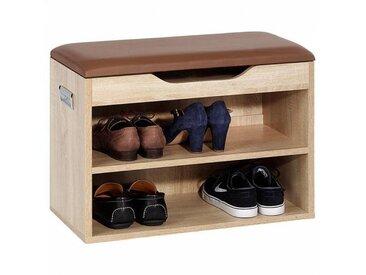 IDIMEX Banc à chaussures ZAPATO, décor chêne sonoma