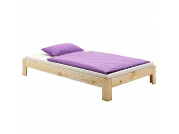 IDIMEX Lit futon THOMAS, en pin massif, 140 x 200 cm, vernis naturel