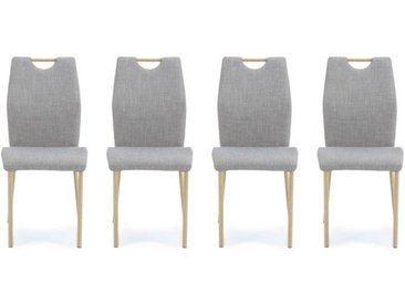 Lot de 4 Chaises Scandinaves Grises CIRROSTRATUS