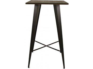 Table Bar En Métal Et Bambou LIGANTE