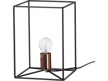 Lampe De Table Cubique Pomax En Métal Noir 20X20X28 STRUCTURA