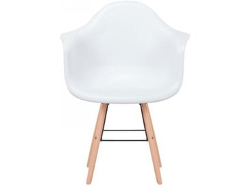 Lot de 4 Chaises Scandinaves Ralf Blanc FIZZ