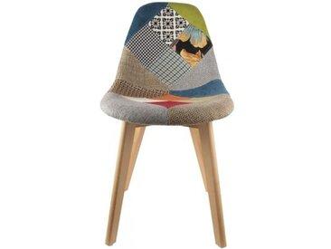 Chaise scandinave patchwork coloré FJORD