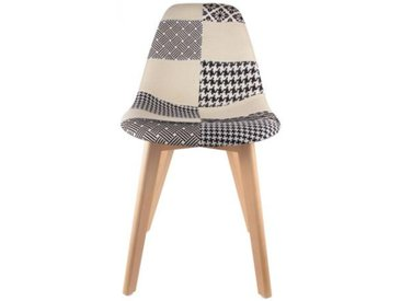 Chaise scandinave patchwork bicolore FJORD