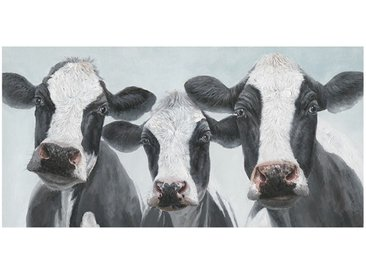 Peinture sur toile cadre décoratif 3 vaches - MARGUERITE