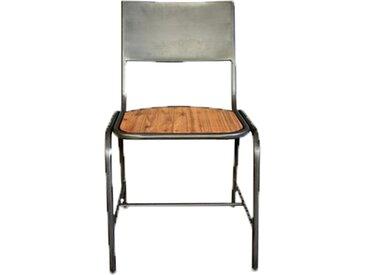 Chaise en bois et métal design industriel - ATELIER
