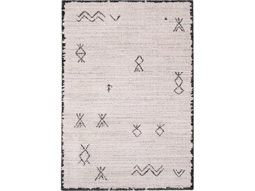 Tapis berbère écru et noir 120x170cm - AYDAN 538