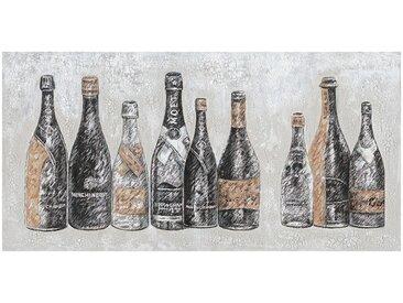 Peinture sur toile cadre décoratif vieille bouteilles - ERIK