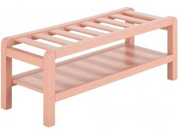 Bout de lit 1 personne longueur 96 cm rose rangement chambre enfant - JAUME 369