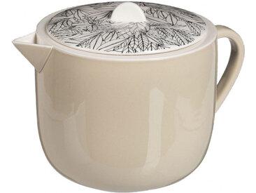 Théière en porcelaine motif laurier 55cl - 2 coloris - AIX