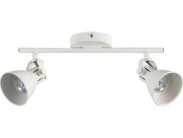 Barre de 2 spots LED blanc - SERAS 751