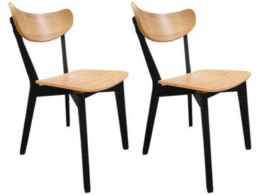 Lot de 2 chaises en bois de hêtre - 2 coloris - ROXANE