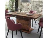 Table extensible en bois L160cm effet bois vieilli - FRED
