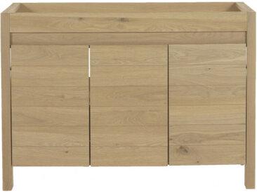 Meuble sous-vasque double en bois massif L120cm - NATIVE 559