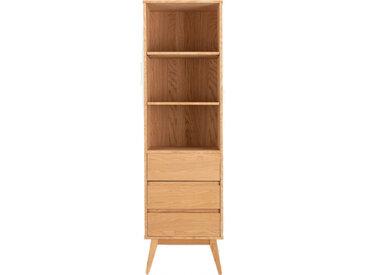 Armoire colonne 3 tiroirs en bois - BRUNA 720