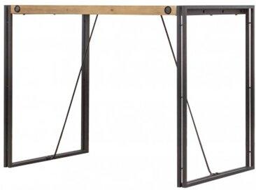 Table haute de bar en bois et métal - style industriel - ATELIER