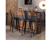 Bar en bois & métal style industriel - ATELIER
