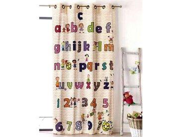 Rideau enfant motif alphabet