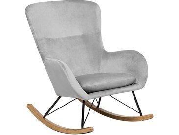 Chaise à bascule style rétro grise