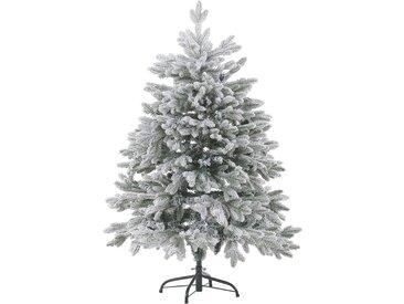 Sapin de Noël artificiel décoratif avec effet neige naturelle 120 cm de hauteur