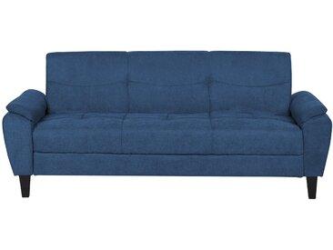 Canapé-lit en tissu bleu HALMSTAD