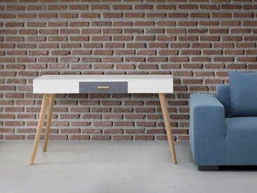 Bureau design - console en MDF blanc RUSH